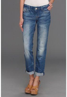 Mavi Jeans Emma Slim Boyfriend in Blue Rustic (Blue Rustic) - Apparel