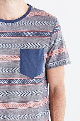 BDG Jacquard Stripe Pocket Standard-Fit Tee