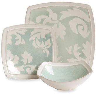 Bed Bath & Beyond Elite Couture® Barrington Square Sage 12-Piece Dinnerware Set