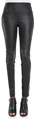 BCBGMAXAZRIA Faux-Leather/Ponte Leggings