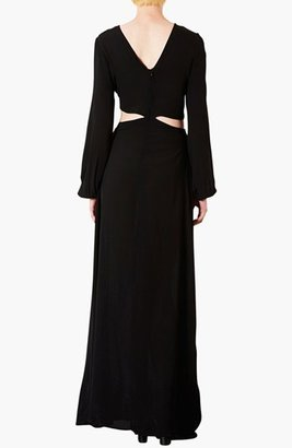 Topshop Cutout Waist Jersey Gown