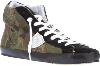 Philippe Model camouflage hi-top sneaker