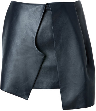 J.W.Anderson Leather Bow Skirt in Navy
