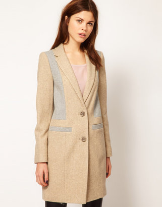 Warehouse Contrast Tailored Coat