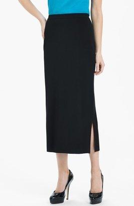 Women's Ming Wang Side Slit Knit Midi Skirt $180 thestylecure.com
