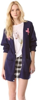 Wildfox Couture Love Saves Lives Cardigan