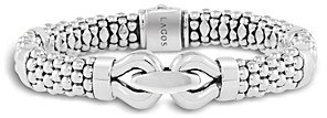 Lagos Derby Large Buckle Sterling Silver Caviar Bracelet