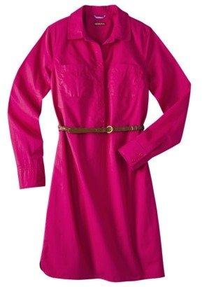 Merona Petites Long-Sleeve Shirt Dress - Assorted Colors