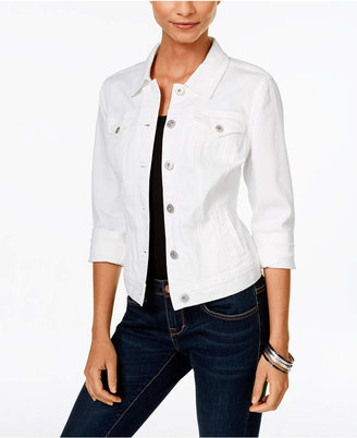 Style & Co Colored Wash Denim Jacket, Only at Macy's $64 thestylecure.com