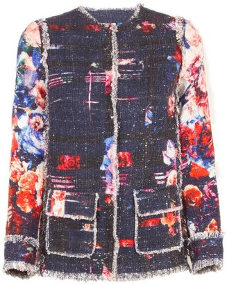 MSGM Tweed Flower Jacket