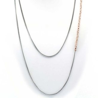 Chan Luu Rose Gold Nugget Layering Necklace