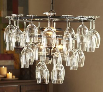 Pottery Barn Wine Glass Rack Chandelier