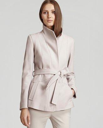 Reiss Coat - Chianti Belted Pleat Back