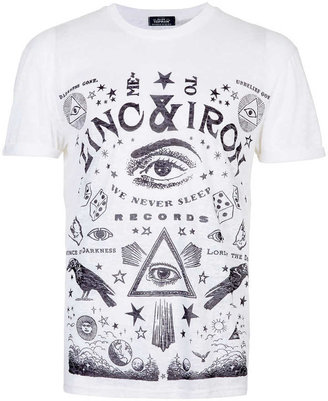 Topman White Burnout Zinc T-Shirt