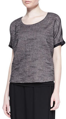 Eileen Fisher Melange Mesh Box Top