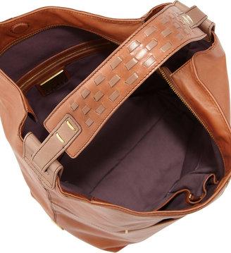 Kooba Henry Slouch Bucket Bag, Saddle