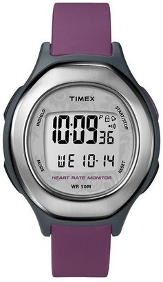 Timex health touch black & purple resin digital heart rate monitor watch - t5k599kz - women