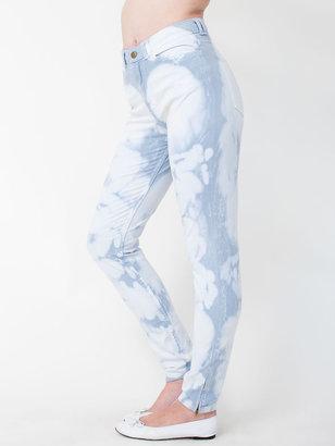 American Apparel Bleachy Four-Way Stretch High-Waist Side Zipper Pant