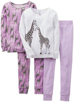 Carter's 4 Piece PJ Set (Toddler/Kid) - Giraffe-4