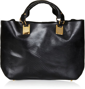 Topshop Plated Leather Tote