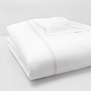 Matouk Classic Chain Duvet Cover, Full/Queen