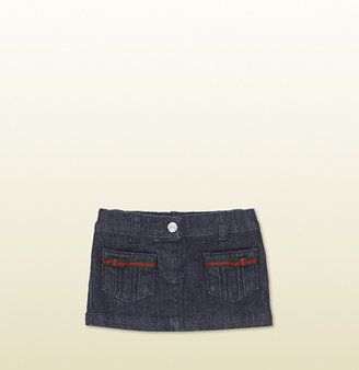 Gucci Dark Blue Denim Skirt