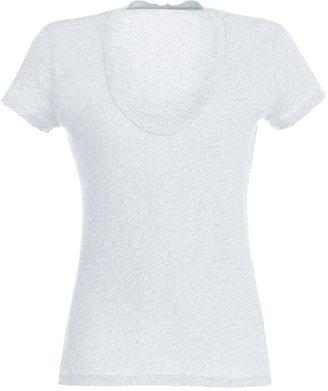 James Perse White S/S V-Neck T-Shirt