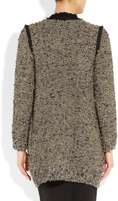 Lanvin Embellished wool-blend bouclé cardi-coat