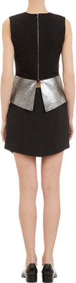 Mason by Michelle Mason Metallic Leather Peplum Tank