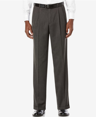 Perry Ellis Portfolio Classic Fit Double Pleat No-Iron Melange Microfiber Dress Pants $85 thestylecure.com