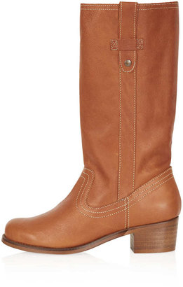 Topshop COACH Mid Heel Boots