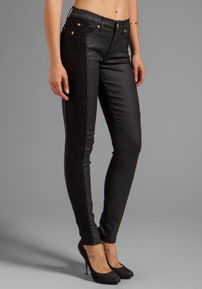 7 For All Mankind Lace Pieced Skinny