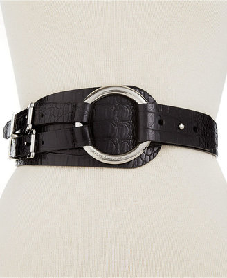 MICHAEL Michael Kors Belt, Large Ring Pullback with Double Buckle