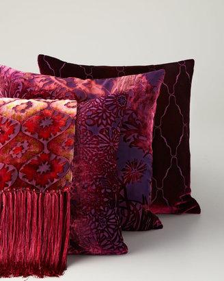 Horchow Kevin O'Brien Studio Red Velvet Throw & Pillows