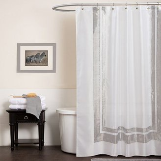 Lush decor jewel fabric shower curtain