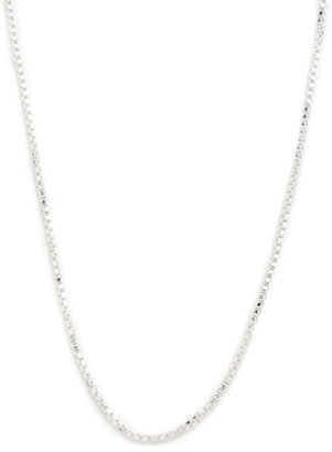 Lord & Taylor Sterling Silver Box-Chain Necklace