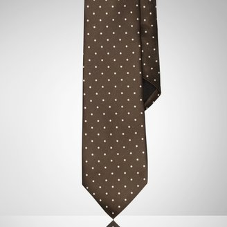 Ralph Lauren Black Label Polka-Dot Silk Satin Tie