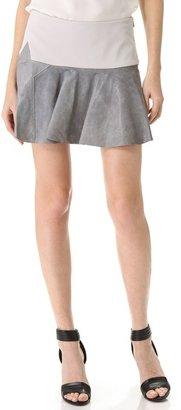 Thakoon Star Leather Trimmed Skirt