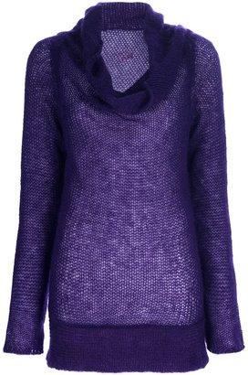 A.F.Vandevorst drape neck sweater