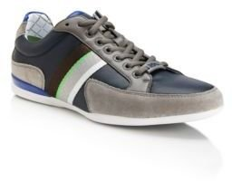 HUGO BOSS 'Space Lea' - Leather and Suede Sporty Sneakers