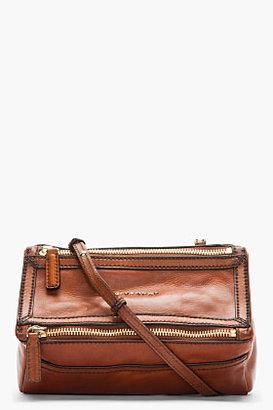 Givenchy Brown Vintage Leather Mini Pandora Shoulder Bag