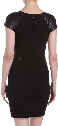 Erin Fetherston Faux-Leather Sheath Dress, Black