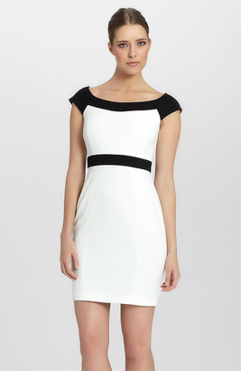 Cynthia Steffe 'Madge' Cap Sleeve Colorblock Sheath Dress