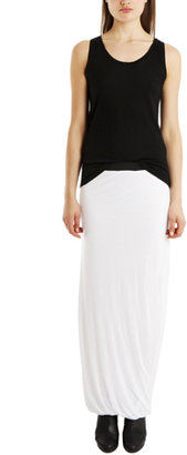 Enza Costa Fitted Maxi Skirt in White