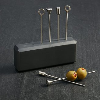 Crate & Barrel Orb Stainless-Steel Cocktail Picks
