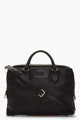 Marc by Marc Jacobs Black & Tan Leather Monsieur Marc Messenger Briefcase