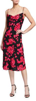 Milly Katie Strappy Rose Jacquard Dress