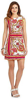 Donna Morgan Cap-Sleeve Printed Dress