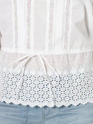 Lauren Ralph Lauren Ralph Lace Cotton Smocked Top