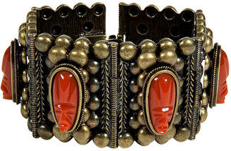Dannijo Oxidized Brass Plated Barbora Cuff with Cameos